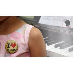 Kitűző - I love music