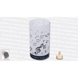 Zenész lámpás - hangjegyes