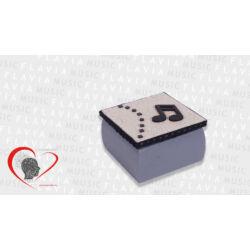 Zenész kincses doboz - szürke, hangjeggyel