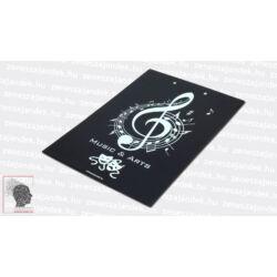Felírótábla - A4+ fekete music & arts