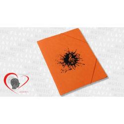 Zenész prespán gumis mappa - narancssárga