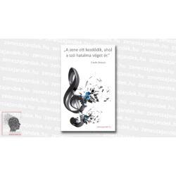 Hűtőmágnes idézetekkel - Claude Debussy