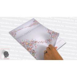 Kottás jegyzetfüzet zenészeknek A4 – Színes hangjegyekkel