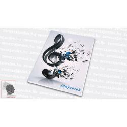 Kottás jegyzetfüzet zenészeknek A5 – Extrém violinkulcs