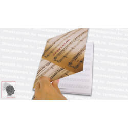 Kottás jegyzetfüzet zenészeknek A5 – Hagyományos kotta