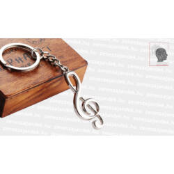 Violinkulcsos kulcstartó
