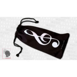 Szemüvegtartó zsák - violinkulccsal