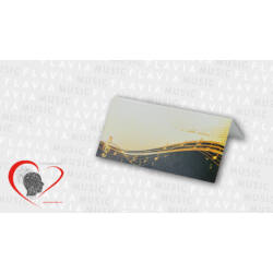 Ültetőkártya - arany kottasorral