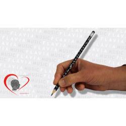 Ceruza - fekete, zenei írásjelek gazdagon
