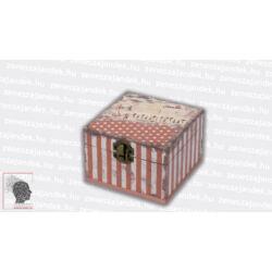 Zenész kincses doboz - mályva csíkos