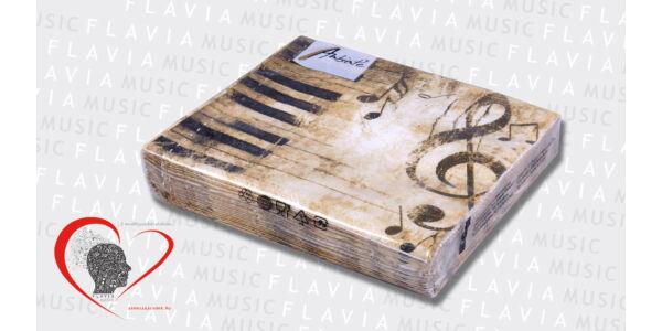Szalvéta - barna violinkulcsos (20 db/csom)