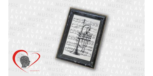 Falikép - trombitával