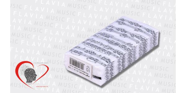 Papír zsebkendő - apró kottával