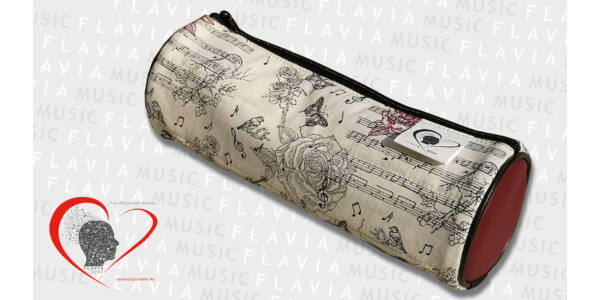 Textil tolltartó, hengeres - vintage stílus