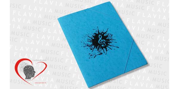 Zenész prespán gumis mappa - kék