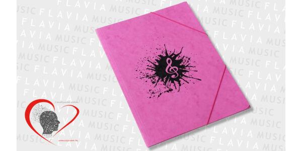 Zenész prespán gumis mappa - rózsaszín