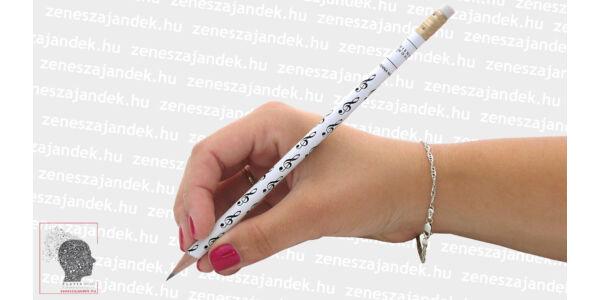 Violinkulcsos ceruza fehér