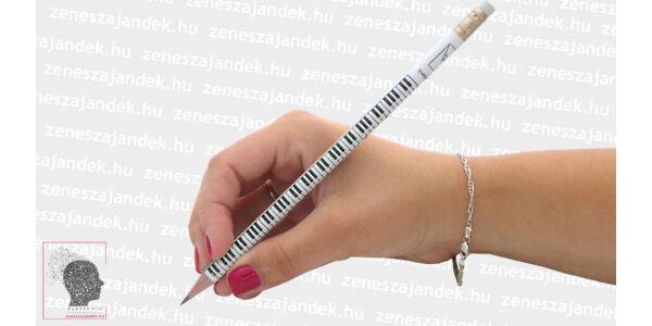 Zongorabillentyűs ceruza fehér