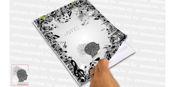 Kottás jegyzetfüzet zenészeknek A4 – Extrém mintával