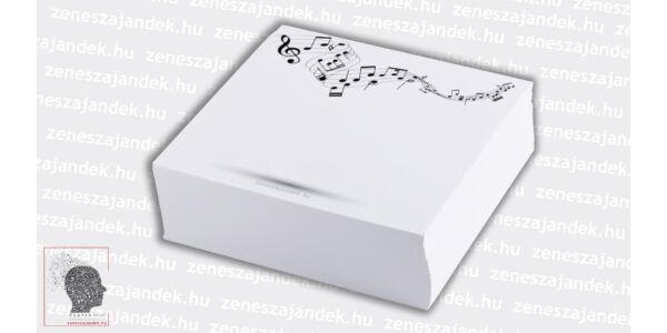 Zenei motívumos jegyzettömb – Bolondos kottás