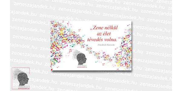 Hűtőmágnes idézetekkel - Friedrich Nietzsche