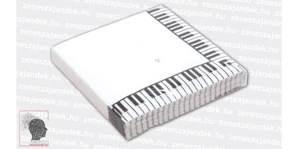 Szalvéta - zongorabillentyűs (20 db/csom)